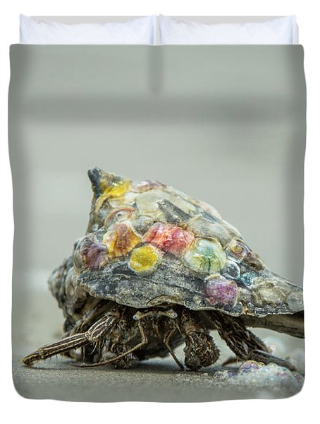 Colorful Hermit Crab Duvet Cover