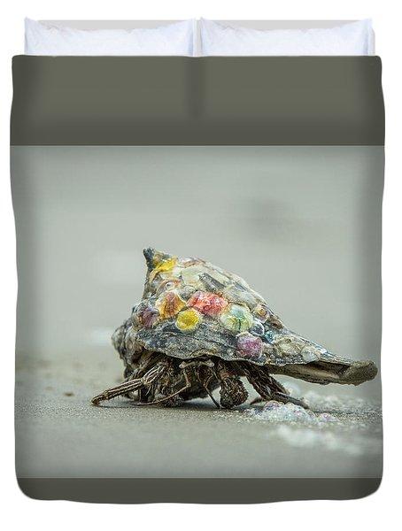 Colorful Hermit Crab Duvet Cover