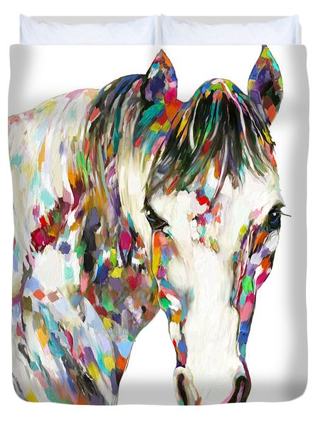 Colorful Horse Duvet Cover