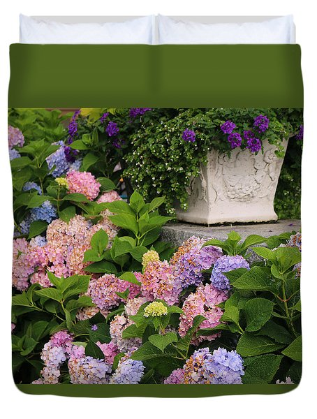 Colorful Hydrangea Duvet Cover