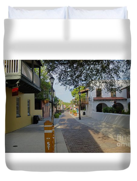 Colorful Hypolita Street Duvet Cover
