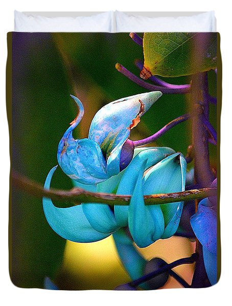 Colorful Jade Blossom Duvet Cover