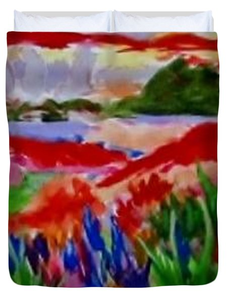 Colorful Duvet Cover by Jamie Frier