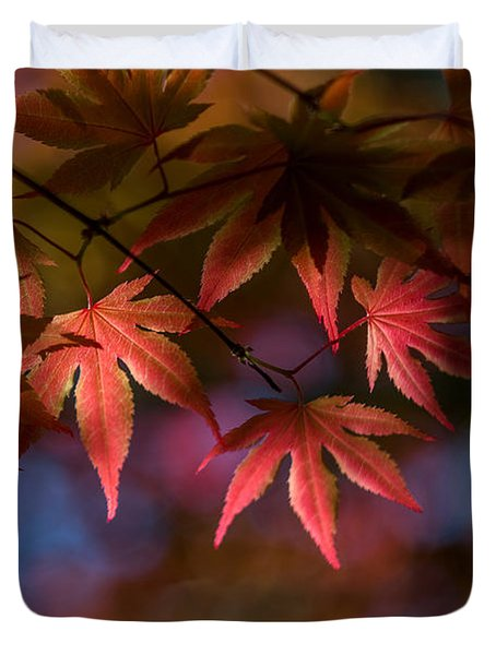Colorful Japanese Maple Duvet Cover