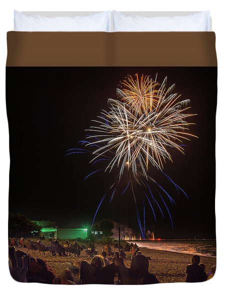 Duvet Cover featuring the photograph Colorful Kewaunee, Fourth by Bill Pevlor