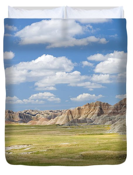 Colorful Landscape In Badlands National Duvet Cover by Philippe Widling