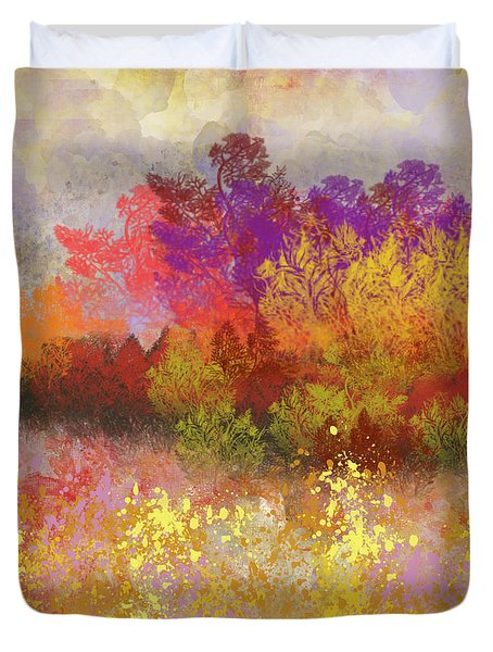 Colorful Landscape Duvet Cover by Jessica Wright