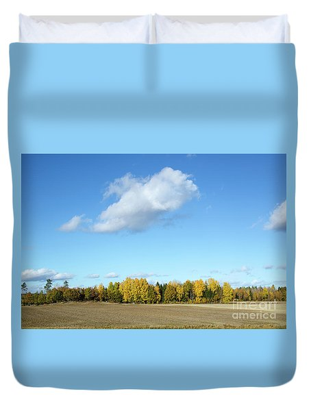 Colorful Landscape Duvet Cover
