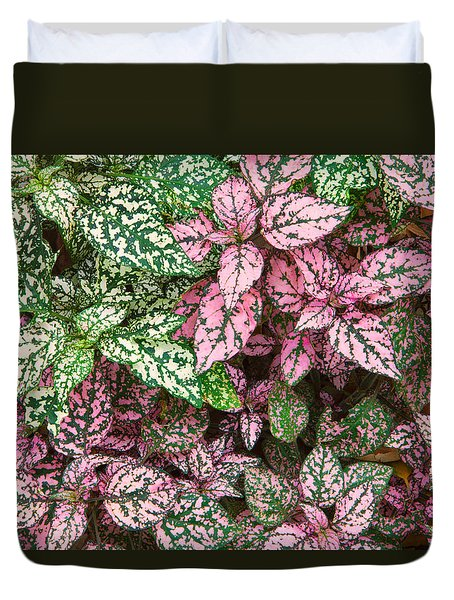 Duvet Cover featuring the photograph Colorful Leafy Ground Cover by Ram Vasudev