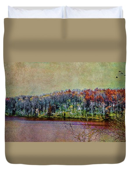 Colorful Loch Raven Reservoir Duvet Cover