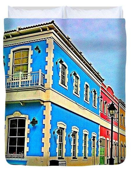 Colorful Macao Houses #nature Duvet Cover