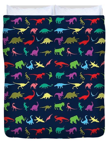 Colorful Mini Dinosaur Duvet Cover