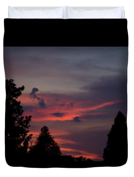 Colorful Mississippi Sky 1 Duvet Cover by Cathy Jourdan