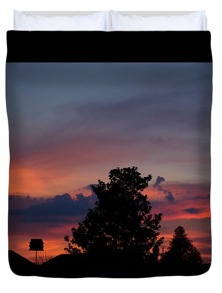Colorful Mississippi Sky 2 Duvet Cover by Cathy Jourdan
