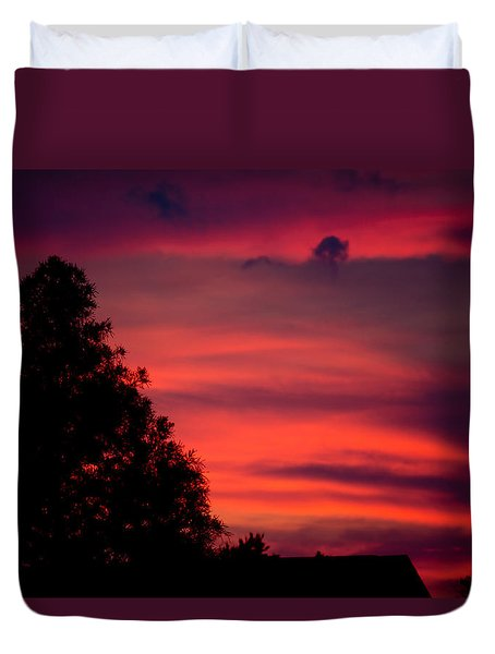 Colorful Mississippi Sky 3 Duvet Cover by Cathy Jourdan