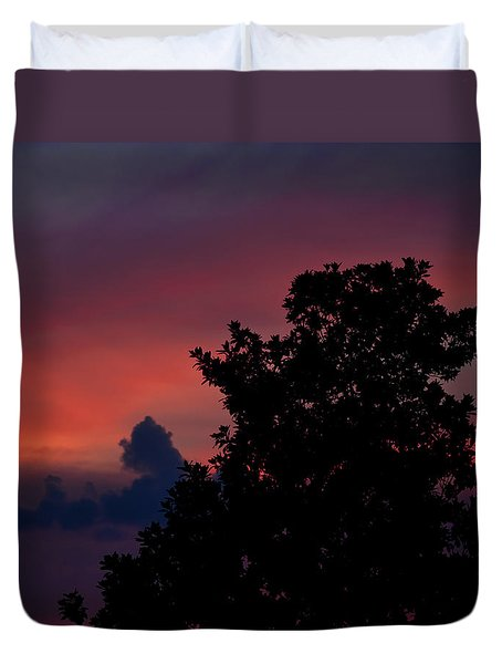 Colorful Mississippi Sky 4 Duvet Cover by Cathy Jourdan