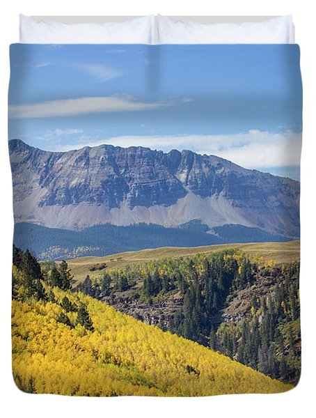 Colorful Mountains Near Telluride Duvet Cover
