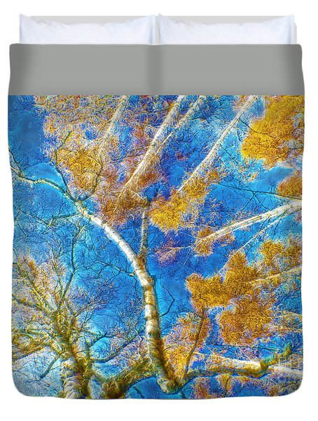 Colorful Mystical Forest Duvet Cover