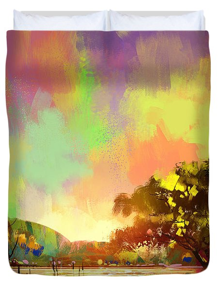 Colorful Natural Duvet Cover