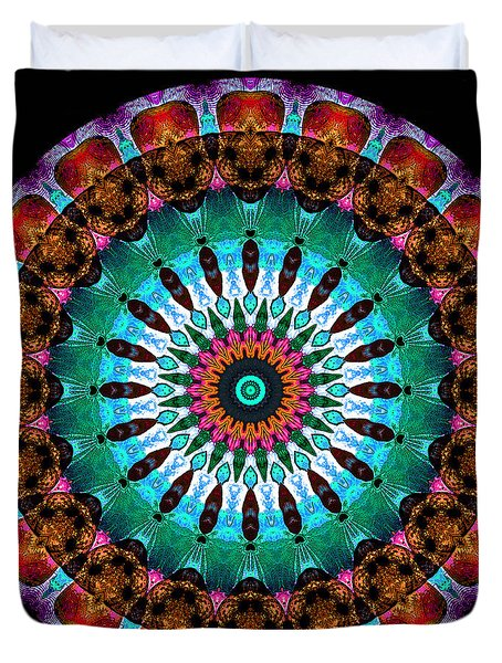 Colorful No. 9 Mandala Duvet Cover by Joy McKenzie