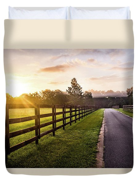 Duvet Cover featuring the photograph Colorful Palette At Sunrise by Shelby Young