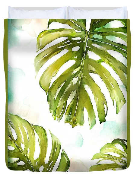 Colorful Palm Duvet Cover