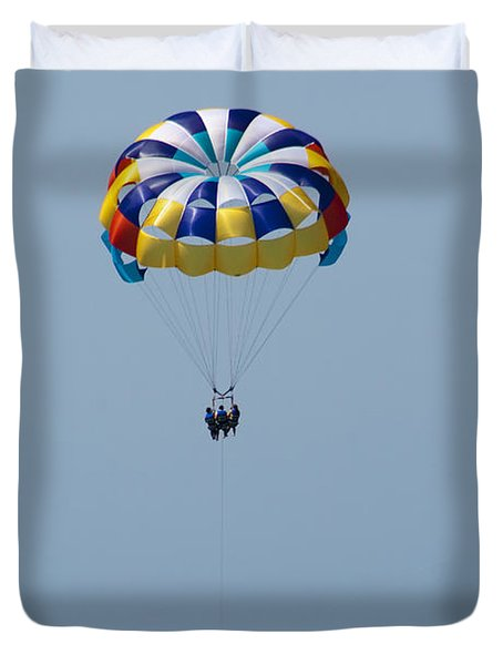 Colorful Parasailing Duvet Cover