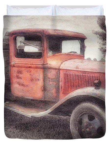 Colorful Past Duvet Cover