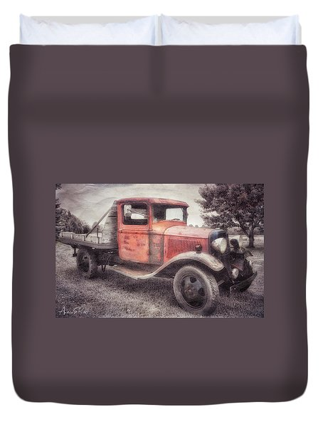 Colorful Past Duvet Cover