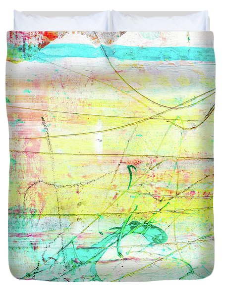 Colorful Pastel Art - Mixed Media Abstract Painting Duvet Cover