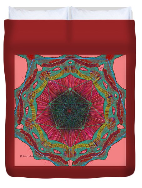 Colorful Pentagonal Abstract Duvet Cover