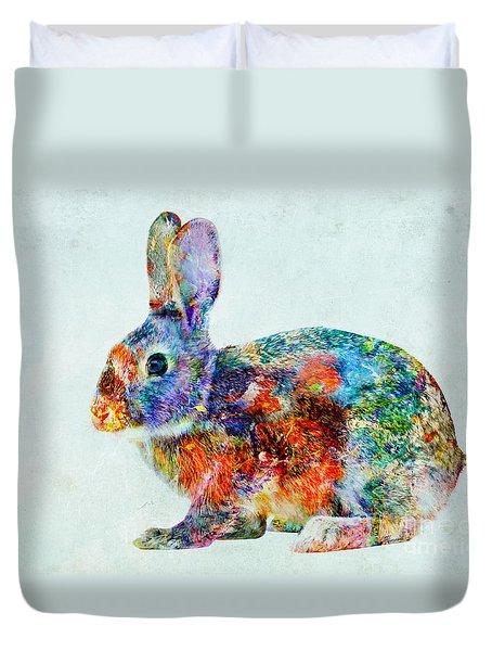 Colorful Rabbit Art Duvet Cover