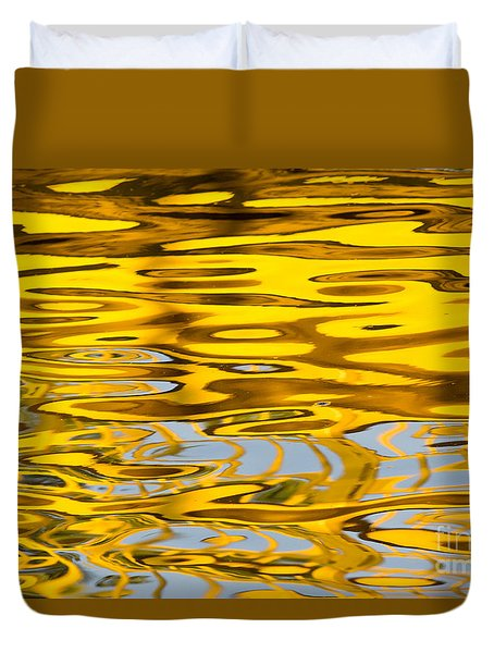 Colorful Reflection In The Water Duvet Cover