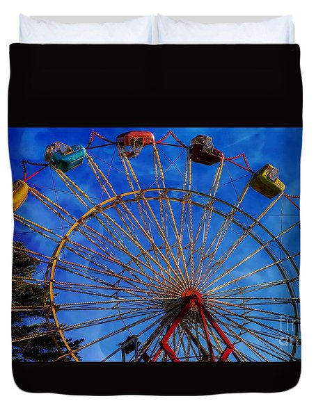 Colorful Ride Duvet Cover by Sherman Perry