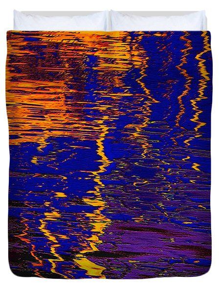 Colorful Ripple Effect Duvet Cover by Danuta Bennett