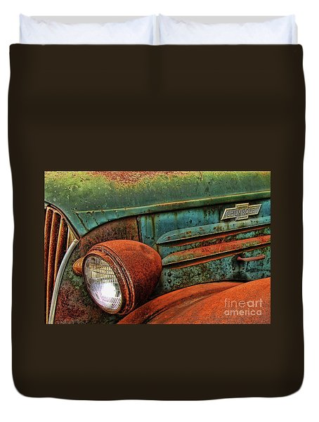 Colorful Rust Duvet Cover