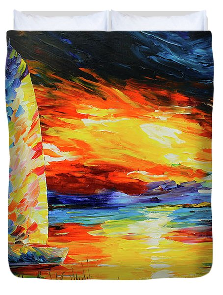 Colorful Sail Duvet Cover