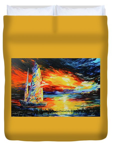 Colorful Sail Duvet Cover