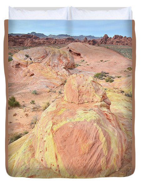 Duvet Cover featuring the photograph Colorful Sandstone In North Valley Of Fire by Ray Mathis