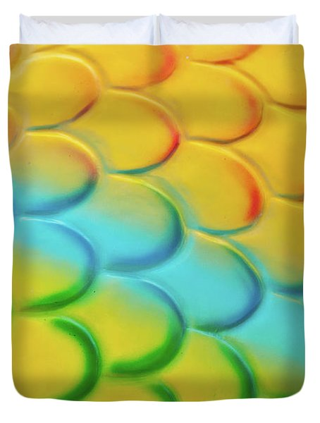 Colorful Scales Duvet Cover by Adam Romanowicz