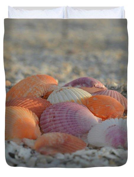 Colorful Scallop Shells Duvet Cover