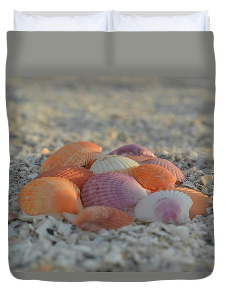 Colorful Scallop Shells Duvet Cover