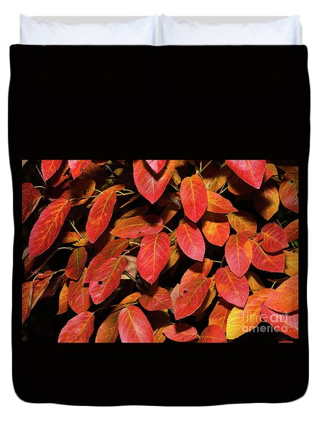 Duvet Cover featuring the photograph Colorful Season by Kennerth and Birgitta Kullman