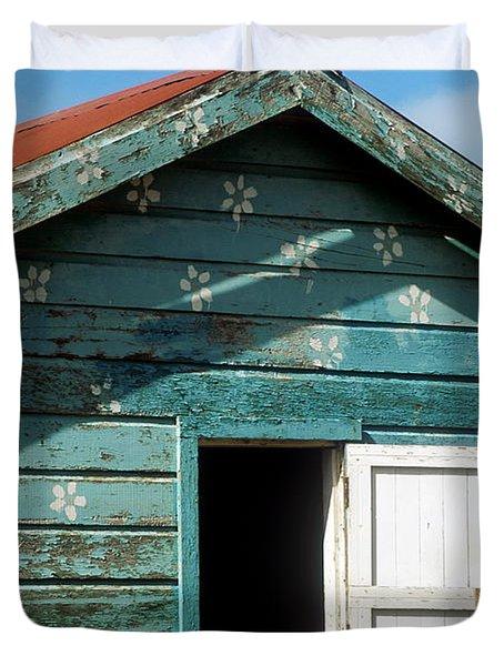 Colorful Shack Duvet Cover by John Greim