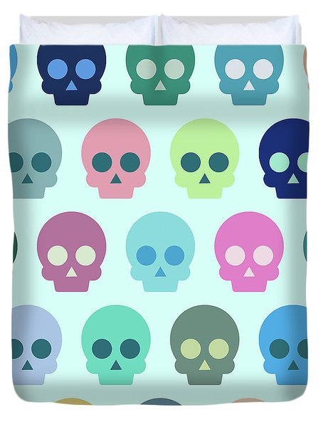 Colorful Skull Cute Pattern Duvet Cover
