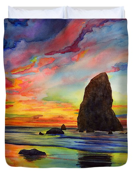 Colorful Solitude Duvet Cover