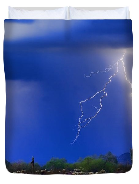 Colorful Sonoran Desert Storm Duvet Cover by James BO  Insogna