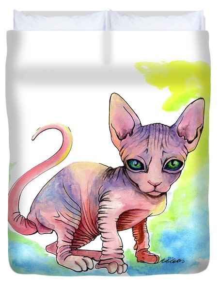 Colorful Sphynx Duvet Cover