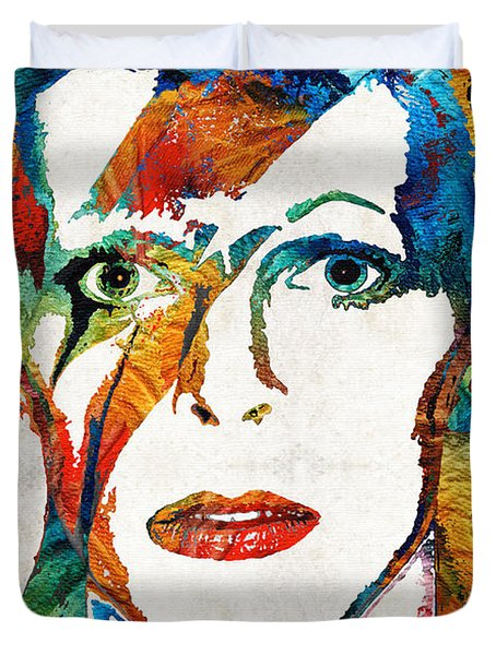 Colorful Star - David Bowie Tribute  Duvet Cover