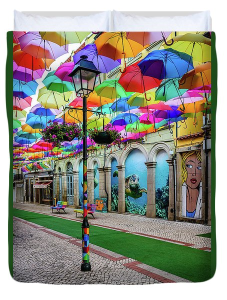 Colorful Street Duvet Cover